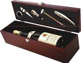 Gifts@Home Wijnset in houten box (6 delig)