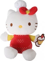 Hello Kitty Knuffel Fait La Cuisine Meisjes Rood 15 Cm