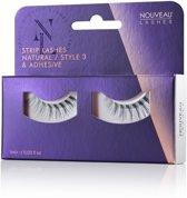 Nouveau Lashes - Strip Lashes Natural / Style 3 & lijm
