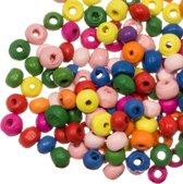 Houten Kralen (5 - 6 mm) Mix Color (250 stuks)