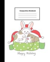 Happy Holiday Composition Notebook