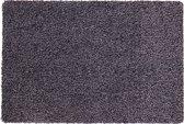 Katoenen droogloopmat op maat grijs 58cm, ecologisch - 58 x 150 cm