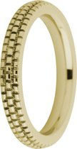 Melano friends Sarah refined engraved ring - Goudkleurig - Dames - Maat 58