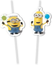 Minions balloons party rietjes 6 st.