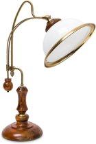 relaxdays Retro bureaulamp - Tafellamp Jugendstil - Klassiek design - Verstelbare lamp.