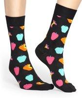 Happy Socks Apple Sokken - Zwart/Multi - Maat 41-46