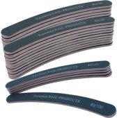 25x boomerang nagelvijl # 80/100, zwart voor nagelbranche. Afvijlen / afwerken / verwijderen van de kunstnagel. Zowel voor acrylnagel als gelnagels geschikt!