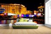 Fraai verlichte gebouwen Las Vegas Fotobehang 380x265