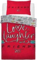 Dekbedovertrek Friends Love Laughter 135cm x 200cm