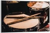 Plexiglas –Drumstel– 90x60cm (Wanddecoratie op Plexiglas)