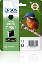 Epson T1591 - Inktcartridge / Foto Zwart