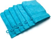 Casilin Royal Touch - Washandje - Turquoise - 16 x 22 cm - Set van 6
