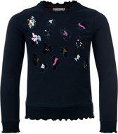 Looxs Revolution - Navy sweater met pailletten - Maat 110