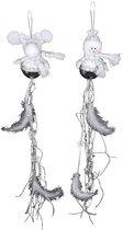 Small Foot Hanger Eland En Sneeuwpop 60 X 7 X 7 Cm Set Van 2