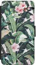 Huawei P8 flipcase hoesje - Tropical banana leaves