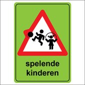 Waarschuwingssticker - Spelende Kinderen
