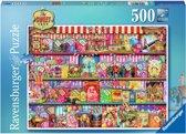 Ravensburger puzzel Aimee Stewart The sweet shop - Legpuzzel - 500 stukjes