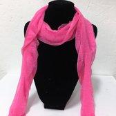 Fashionidea - Mooie roze zijde zachte glimmende sjaal