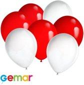 30x Ballonnen Canadese kleuren (Ook geschikt voor Helium)