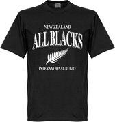 Nieuw Zeeland All Blacks Rugby T-Shirt - Zwart - S