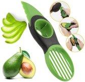 Avocadosnijder - 3-in-1 Avocado snijder en ontpitter - Eenvoudige avocado tool - Groen & zwart avocado mes