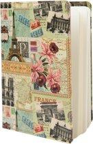 Reis Notitieboekje Notebook Frankrijk 13 x 19 cm 60 pagina's
