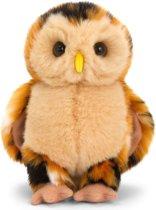 Keel Toys pluche bosuil bruin uilen knuffel 28 cm - bosdier knuffeldieren - Speelgoed voor kind