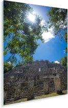 Prachtige lucht boven de ruïne in Calakmul Plexiglas 80x120 cm - Foto print op Glas (Plexiglas wanddecoratie)