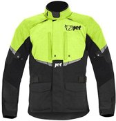JET - Motorjas / Motorjack Heren Textiel Waterdicht CE - Tourer (Fluoriserend, 5XL (50 - 52 ))