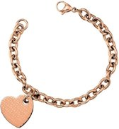 TJ RG Off Center Heart Bracelet