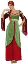 Prinses/jonkvrouw verkleed jurk/set dames- carnavalskleding - voordelig geprijsd M/L (38-40)