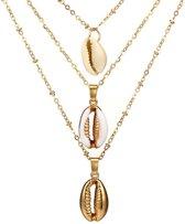 24/7 Jewelry Collection Schelpen Ketting - Schelp - Goudkleurig