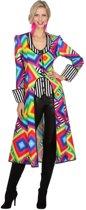 Jaren 80 & 90 Kostuum | Lange Drukke Theater Jas Vrouw | Maat 46 | Carnaval kostuum | Verkleedkleding