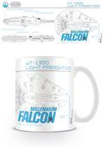 STAR WARS - MILLENIUM FALCON SKETCH Mugs