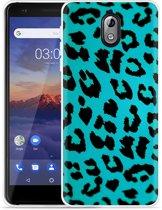 Nokia 3.1 Hoesje Luipaard Groen Zwart