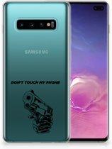 Samsung Galaxy S10 Plus Uniek TPU Hoesje Gun DTMP