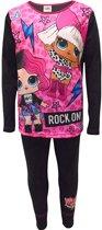 LOL Surprise - kleuter - kinder- tiener -  meisjes - pyjama - Rock on ! - zwart/roze- maat 104/110