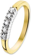 The Jewelry Collection Ring Diamant 0.15ct H P1 - Bicolor Goud