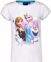 Disney Frozen shirt wit voor meisjes 128 (8 jaar)
