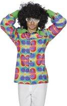 Hippie Kostuum | Hemd Schreeuwende Kleuren Man | Maat 48 | Carnaval kostuum | Verkleedkleding
