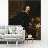 Fotobehang vinyl - Lucas van Uffel - Schilderij van Anthony van Dyck breedte 400 cm x hoogte 500 cm - Foto print op behang (in 7 formaten beschikbaar)