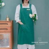 Sophie Nordinn® - Schort Visby (Donkergroen) - Scandinavisch Keukenschort vrouwen - Nordic Apron - Schorten dames - Keukentextiel - Kookschort