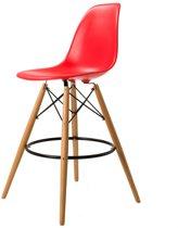 Design barkruk DD DSW barkruk mat PP rood kuipstoel