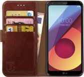 Rosso Element LG Q6 Hoesje Book Cover Bruin