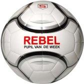 Rebel Voetbal Pvc Maat 5 Wit / Zilver (pupil Van De Week)