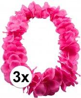 3x Hawaii slinger neon roze