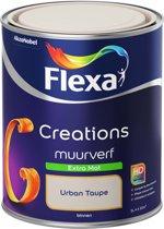 Flexa Creations - Muurverf Extra Mat - Urban Taupe - 1 liter