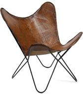 Vlinderstoel Flair - Cognac