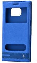 Teleplus Samsung Galaxy S7 Edge Double Window Case Blue hoesje