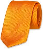 E.L. Cravatte Stropdas - Oranje - 100% Zijde